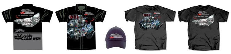 Drag Week Engine Shirts